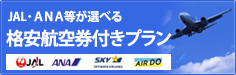 Plan with discount air ticket which JAL, ANA can choose